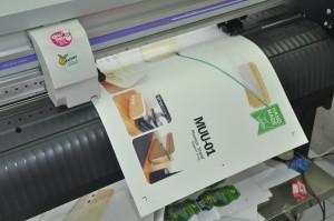 พิมพ์ ฉลากสินค้าด้วยเครื่อง Digital Offset วัสดุ PP Sticker ด้าน ไดคัทด้วยเครื่อง Mimaki ไดคัท CG-60SR III